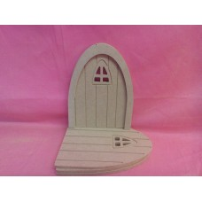 4mm MDF Grooved fairy door with arched window  pack of 5